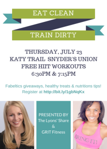 Eat Clean Train Dirty Flyer 072315
